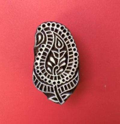 Block craft Indian wooden printing block- Paisley Leaf 1