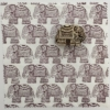 Indian Block Printed Fabric- Small Detailed Elephant