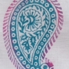 Indian Block Print Paisley Design Two Toned Coloured design