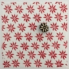 Indian Block Printed Fabric - Spiky Flower
