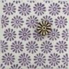 Indian Block Printed Fabric - Straight Petal Daisy