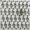 Indian Block Printed Fabric - Treble Clef