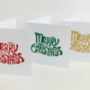 Curly Merry Christmas Block Printed Christmas Cards
