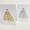 Block Printed Merry Christmas Tree Cards