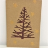 Block Printed Twiggy Christmas Tree Card