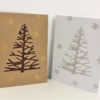 Block Printed Twiggy Christmas Tree Cards