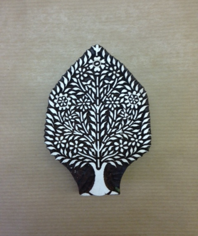 Tree Of Life Indian wooden printing block