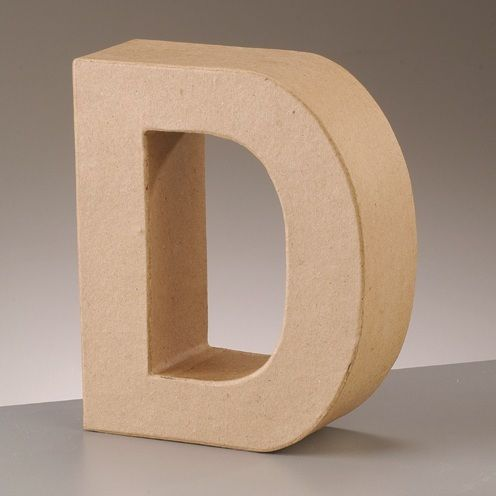 Free standing 39 3d 39 letter d arty crafty for Cheap 3d cardboard letters
