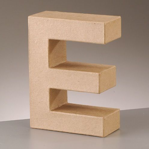 Free standing 39 3d 39 letter e arty crafty for 3d wooden alphabet letters