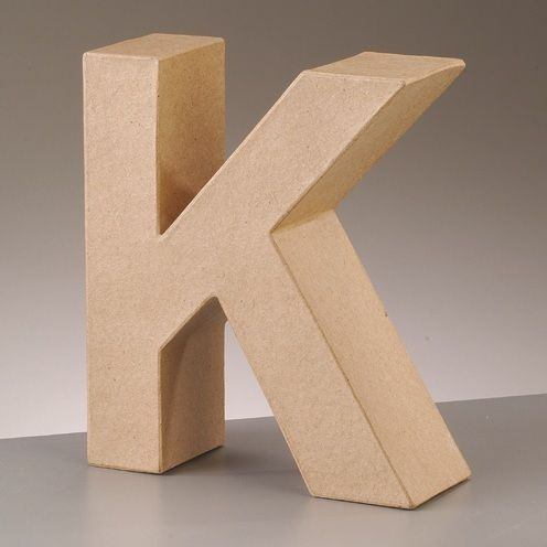 Free standing 39 3d 39 letter k arty crafty for Cheap 3d cardboard letters