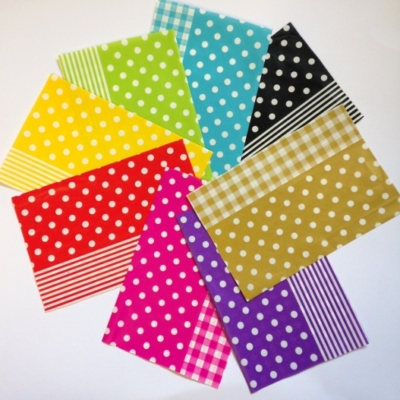 Decopatch Paper pieces pack- spots stripes gingham