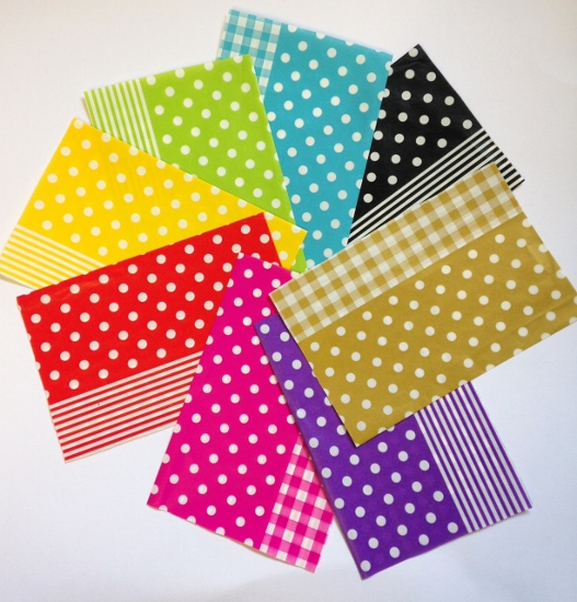 Decopatch Paper pieces pack- spots stripes gingham