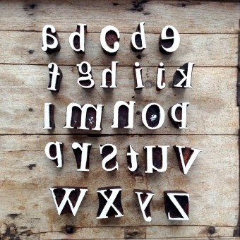 Alphabet & Text Printing Blocks