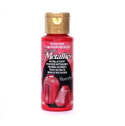 Americana Acrylic Metallic - Festive Red