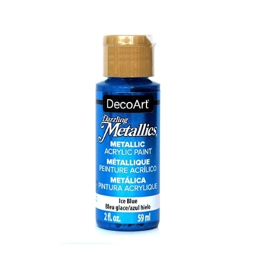 Americana Acrylic Metallic Paint - Ice Blue