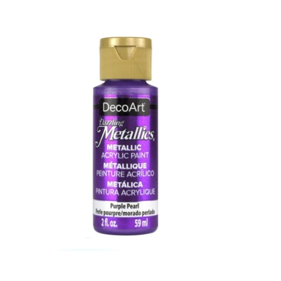 Americana Acrylic Metallic Paint - Purple Pearl