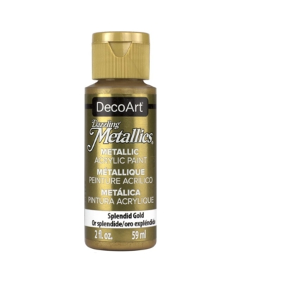 Americana Acrylic Metallic Paint - Splendid Gold