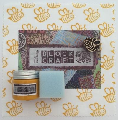 Indian Block Printing Kit- Smiling Bumble Bee