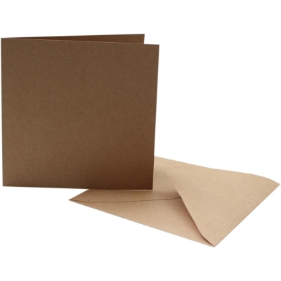 Brown Kraft Cards with Envelopes