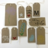 Hand Block Printed Brown Gift Tags