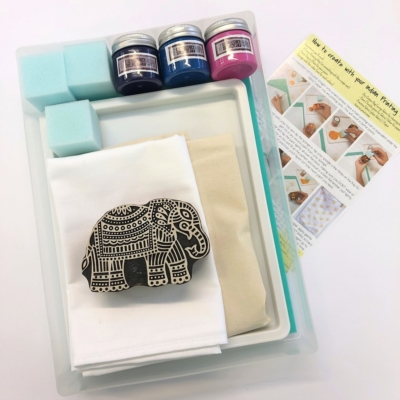 Complete Block Printing Kit - Detailed Elephant