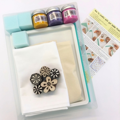 Complete Block Printing Kit - Flowers