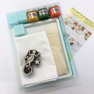 Complete Block Printing Kit - Large Gekko & Star