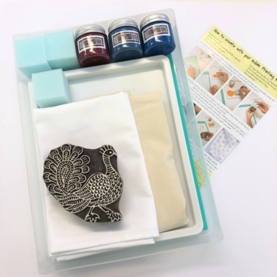Complete Block Printing Kit - Pretty Peacock