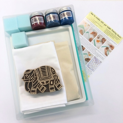 Complete Block Printing Kit - Walking Elephant