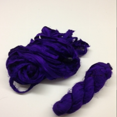 Sari silk ribbon- deep purple