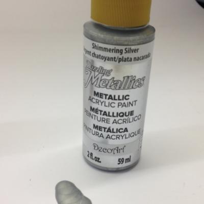 shimmering silver decoart metallic paper paint
