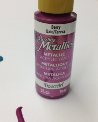 berry metallic decoart paper paint