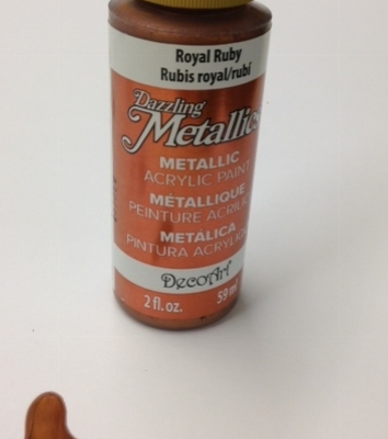 Royal ruby decoart metallic paper paint
