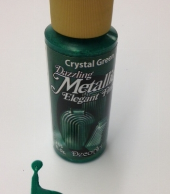 crystal green decoart metallic paper paint