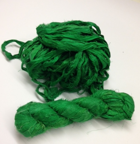 Sari Ribbon Grass Green Arty Crafty