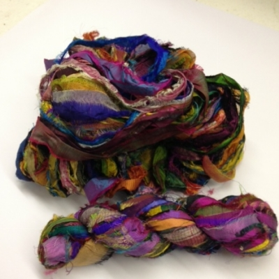 mixed indian sari silk