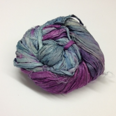 sari silk ribbons purple jades