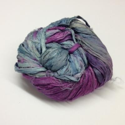 sari silk ribbons purple jades
