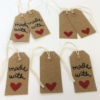 Block Printed Made with love gift tags