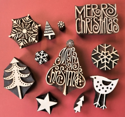 Merry Christmas Tree Printing Set