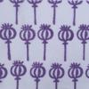 Block Printed Fabric- Single Poppy Head