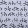 Block Printed Fabric- Simple Bicycle