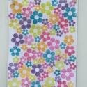 Indian Block Printed Tea Towel Multi-coloured Flower