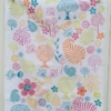 Mixed Tea Towel Indian Block Print Tree Leaves Flowers