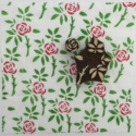 Indian Block Printed Fabric- Rose & Leaf Set