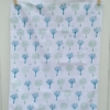 Indian Block Printed Tea Towel Trees Blue and Green