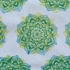 Indian Block Indian Sunflower Twice Printed Green and Yellow