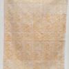 Indian Block Printed Tea Towel Seed Head Tile Design Mustard