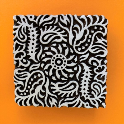 Indian Wooden Printing Block - Filigree Tile