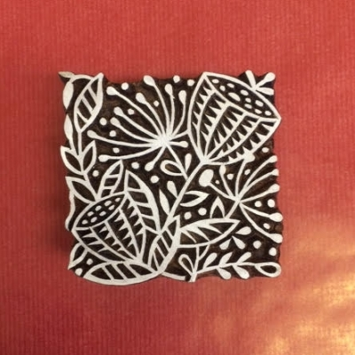 Indian wooden printing block, hand printing, block craft